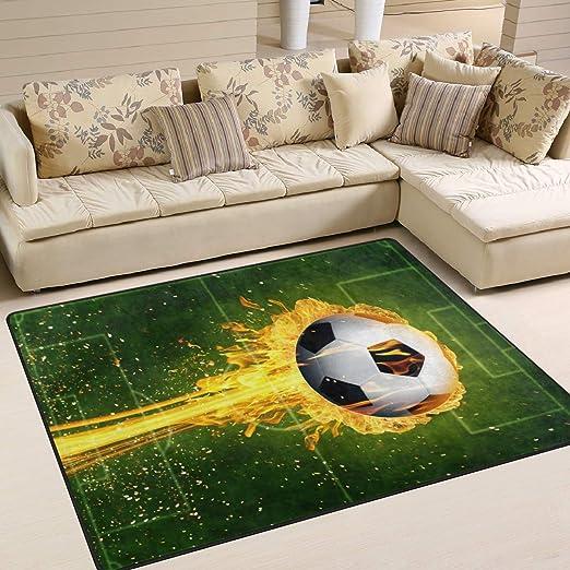 Use7 - Alfombra mágica con diseño de balón de fútbol en Llamas ...