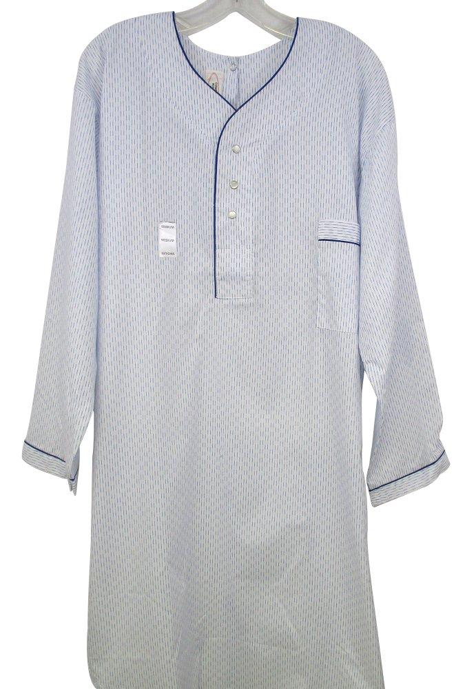 Benefit Wear Mens Adaptive Back Snap Nightshirt-Assorted Prints (M)
