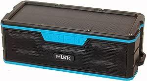 Misik Bocina Bluetooth Portátil con Sistema De Carga Solar, Power Bank Y Reproductor De SD Ms208