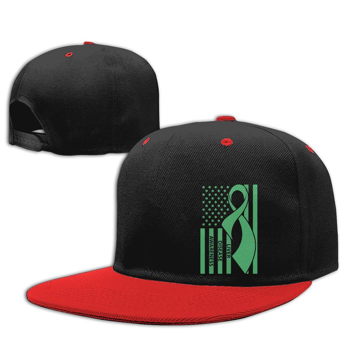 Liver Awareness Unisex Hip-Hop Baseball Caps NMG-01 Men and Women Dad Hat