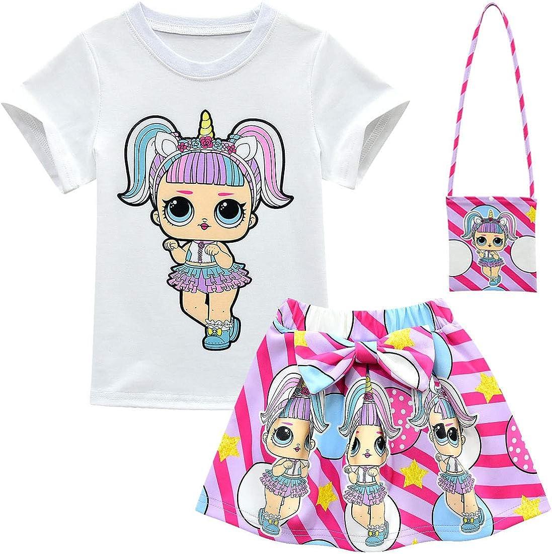 t-shirt con bambola Maglietta a maniche corte con bambola LOL Surprise ALAMing per bambine
