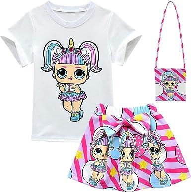 ALAMing Girl Camiseta de manga corta LOL Surprise Doll Niñas Ropa de música para niños: Amazon.es: Ropa y accesorios