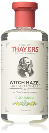 Thayers Witch Hazel Toner With Aloe Vera Formula Alcohol-Free Cucumber – 12 Oz, Pack of 3