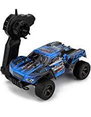 RC Car, KINGBOT 30km/h 1:18 Scale 2.4Ghz High Speed Radio Control Die-Cast Off-Road Vehile with 50M Remote Control Racing Cars (Blue-Main)