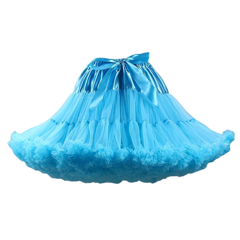 Veilbridal Vintage Petticoat Skirts Puffy Tutu Tulle Crinoline Underskirt for Women