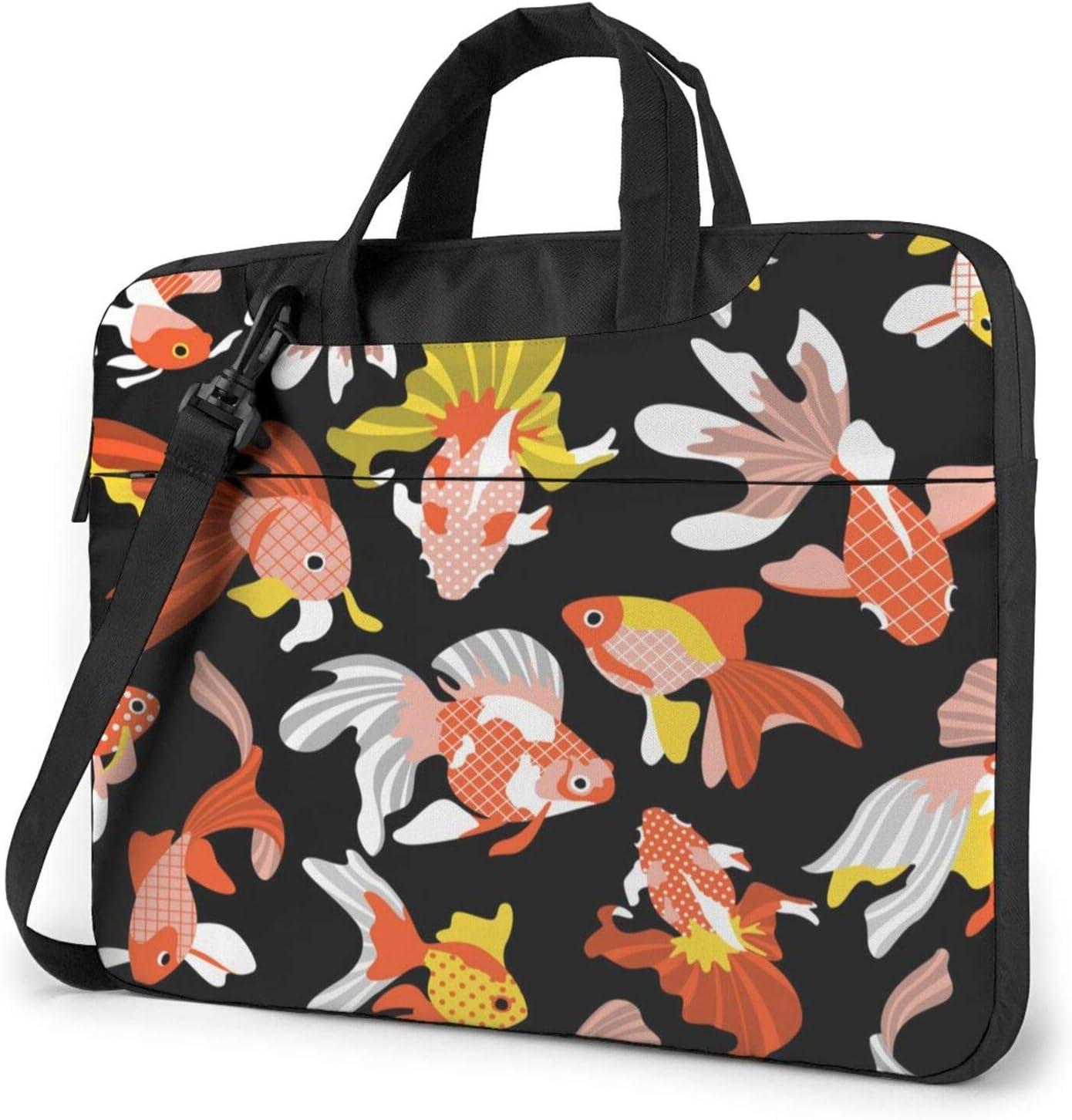 Cute Goldfishes Laptop Shoulder Messenger Bag,Laptop Shoulder Bag Carrying Case with Handle Laptop Case Laptop Briefcase 15.6 Inch Fits 14 15 15.6 inch Netbook/Laptop