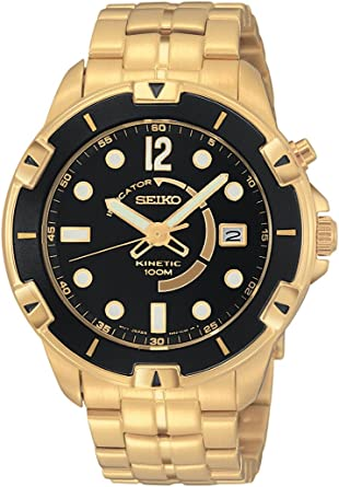 Amazon.com: Seiko Mens SKA412 USA Sport 100 Kinetic Watch ...