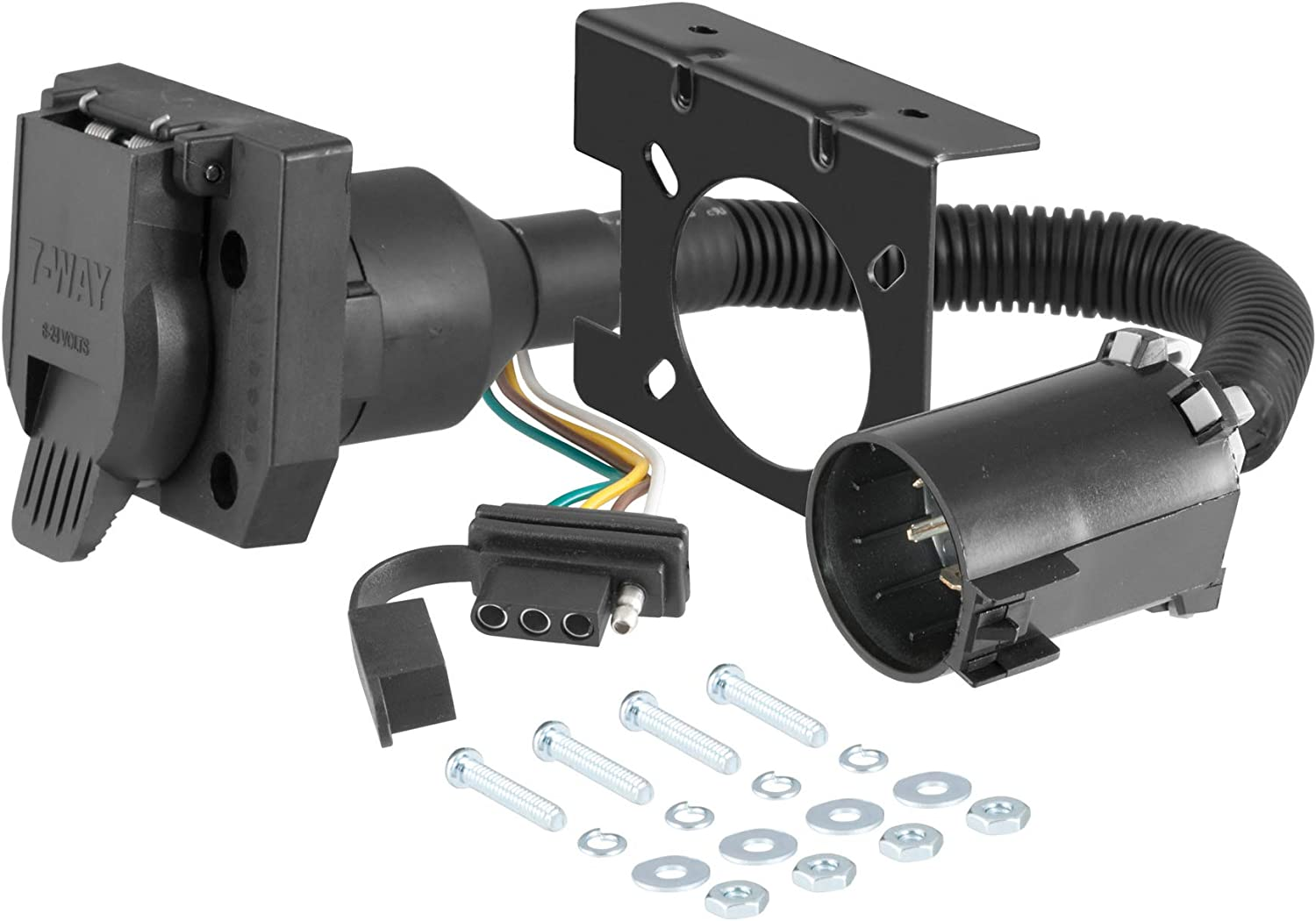Amazon.com: CURT 55774 Dual-Output Vehicle-Side Trailer Wiring Harness  Connectors for USCAR, 7-Pin, 4-Pin: AutomotiveAmazon.com