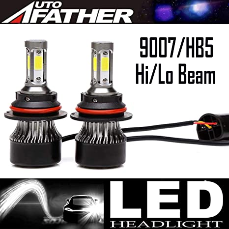 Ultra 9007 Led Headlight Bulbs Hb5 Cob Led Headlight Conversion Kit 240w 24000lm Hi Lo Dual Beam Headlamp Halogen Headlight Replacement With 2 Pcs Of