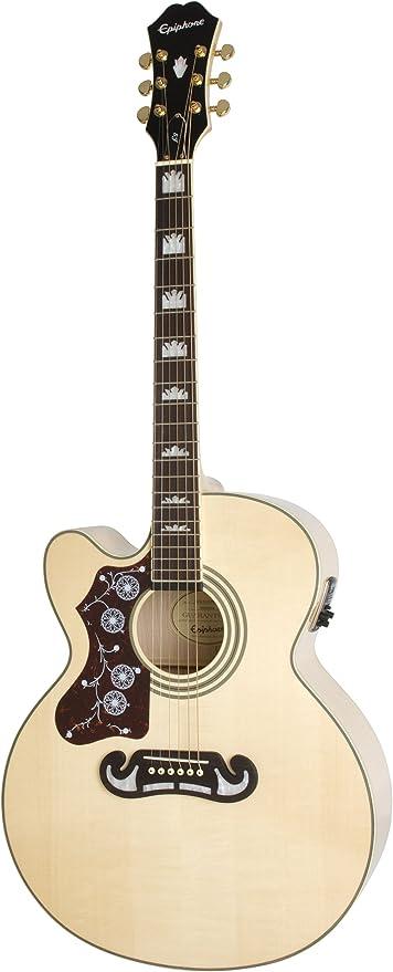 Epiphone eej4lnagh3 Electroacústica guitarra, zurdos, Natural ...