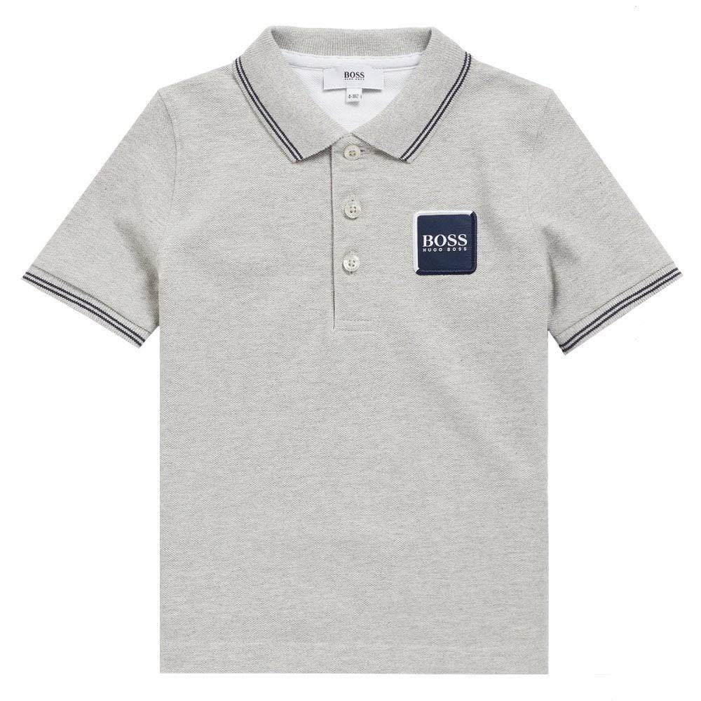 BOSS Hugo Kids Logo Polo Grey Grey 4 Years: Amazon.es: Ropa y ...