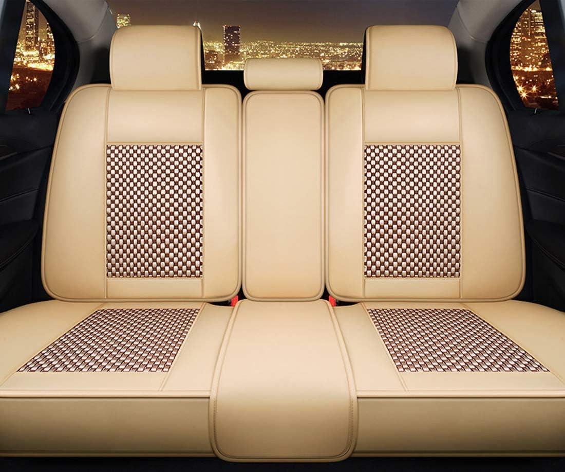 Sitzbezüge Leder Vorne Und Hinten 5 Sitziges Set Wasserdichte Pu Leder Auto Vordersitze Und Rückbank Komplettset Für Bmw F10 F11 F15 F16 Januar 3 4 5 7 Serie Gt X Beige Auto