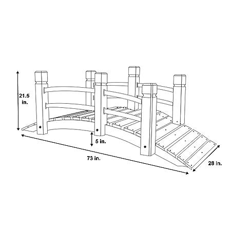 Amazon Com Shine Company Inc 4982n Cedar Garden Bridge 6 Ft