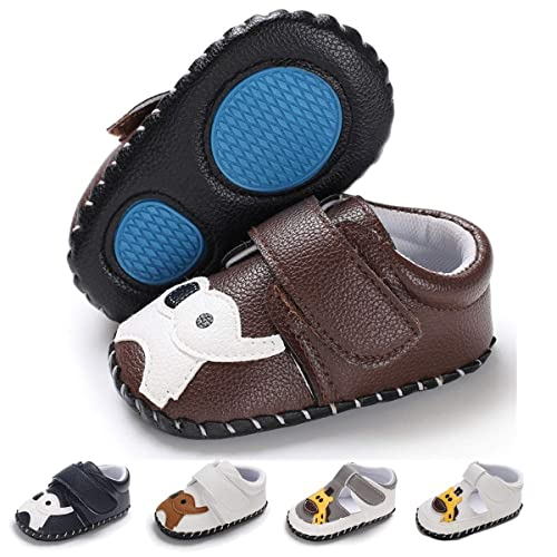 55a0f475aeae Baby Boys Girls Slippers PU Leather Cartoon Shoes Soft Sole Moccasins Toddler  First Walker Infant Newborn