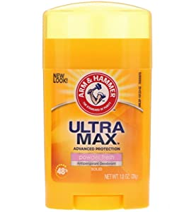 Arm & Hammer Ultra Max Powder Fresh Antiperspirant Deodorant 1.0 Oz Travel Size (Pack of 3)