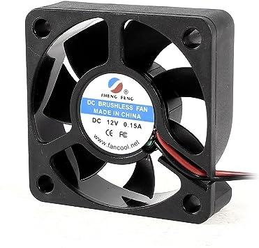 50x15mm DC 12V 0.15A 7 hojas de ventilador de refrigeración para ...