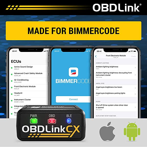 OBDLink CX is suitable for specific vehicles like BMW and Mini vehicles