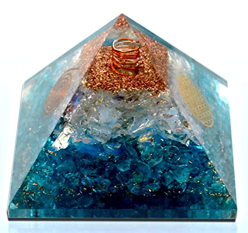 Orgonite Crystal- Emf protection 7 Chakra Layered Orgone Crystal Gemstone for Chakra Balance Stress Relief Inner Healing Relationship Improve