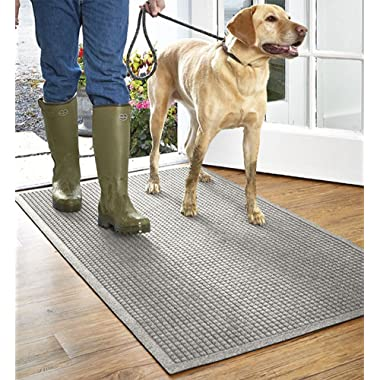 Orvis Grid Recycled Water Trapper Mat/Only 3'9  X 5'9 , Gray,