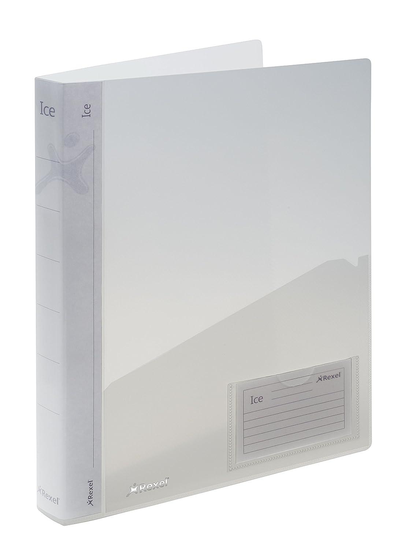 Rexel 2102047 Ice Raccoglitore a 2 Anelli A4, Copertina Semi-Rigida, Trasparente ACCO Brands