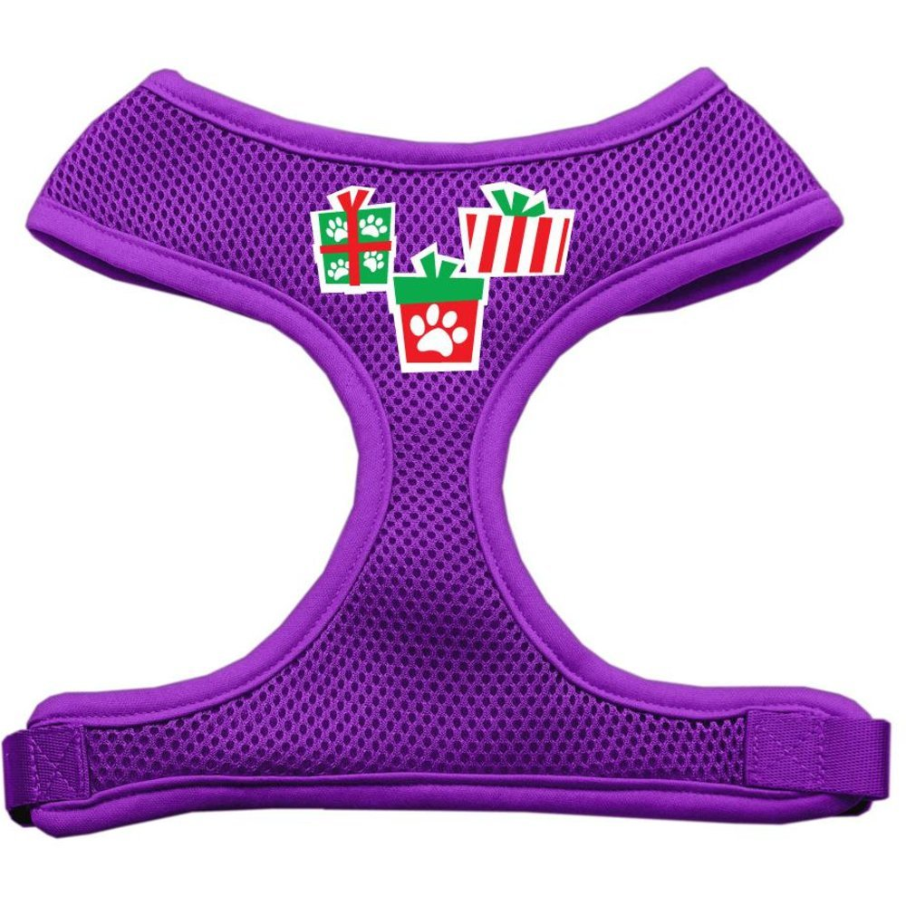 Mirage Pet Products Presents Screen Print Soft Mesh Dog Harnesses, Large, Purple