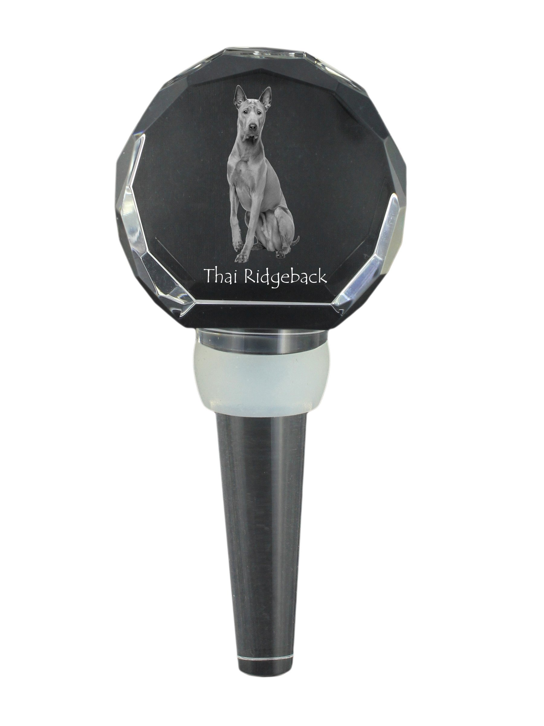 Thai Ridgeback, Crystal Wine Stopper with Dog,, New collection