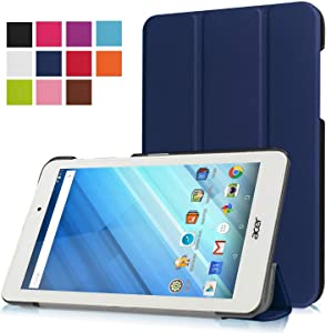 Asng Acer Iconia One 8 B1-850 Case - Ultra Slim Lightweight Standing Cover for Acer Iconia One 8 B1-850 8-Inch Tablet (Drak Blue)