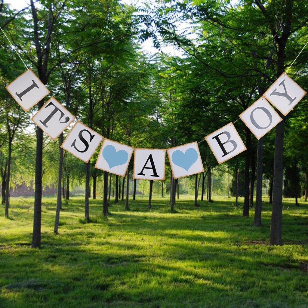 Baby Shower Banner Its A Boy /& Its A Girl Atrezzo De Fotos con Guirnaldas De Brillo Azul Y Rosa para Decoraciones De Fiesta De Baby Shower 1 Lo