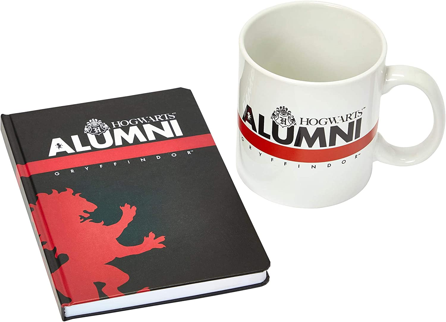 Includes 160-Page Hogwarts Notebook and 20-Oz Ceramic Cup With Handle Harry Potter Gryffindor Alumni 2-Piece Journal /& Mug Set From Rowlings Wizarding World Black /& White Design Red