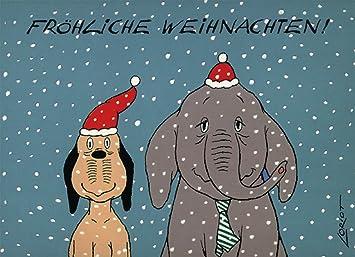 Loriot Weihnachten.Postkarten Weihnachten A6 0607 Fw Wum Wendelin Von