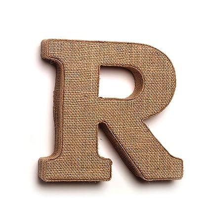 Amazon.com: Decorative Burlap Letters - R: Home & Kitchen