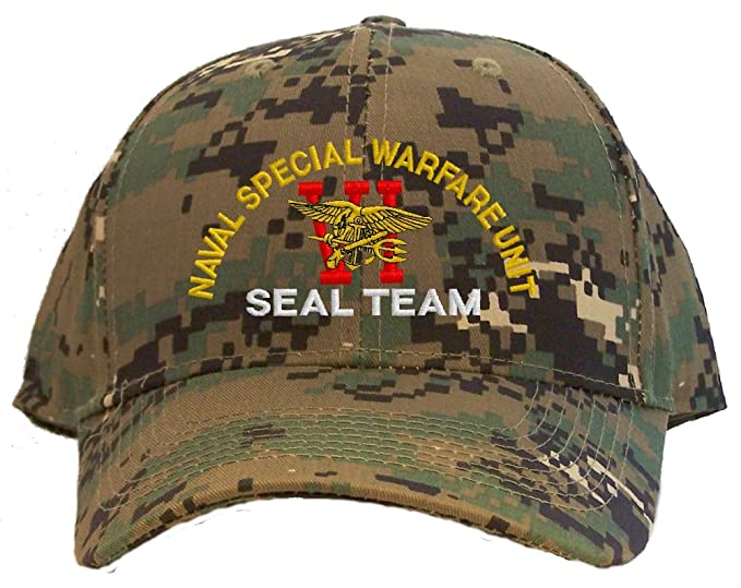 89160953a Seal Team Six Spec Ops Embroidered Baseball Cap - Camo