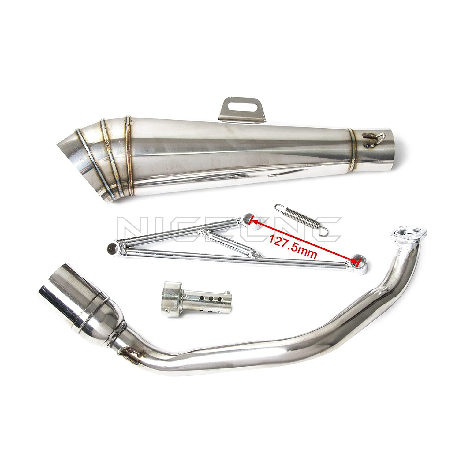 NICECNC Motorcycle Stainless Steel Exhaust Muffler System