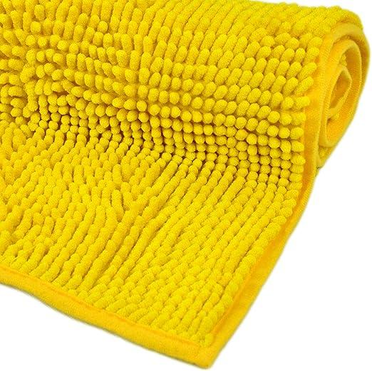 WohnDirect Alfombrilla de baño Amarillo • Puede combinarse en un ...