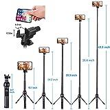 Eocean 45-Inch Selfie Stick Tripod, Extendable