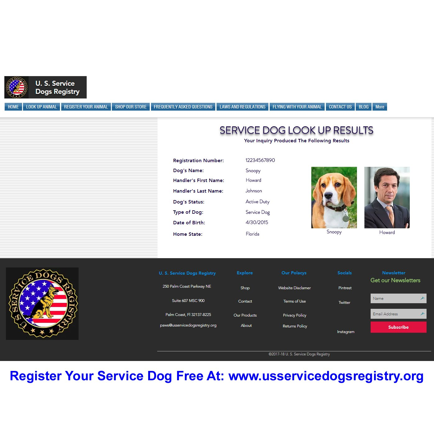 Just 4 Paws Custom Holographic QR Code Emotional Support Dog ID Card with Registration to Service Dogs Registry with Strap - Landscape Style by Just 4 Paws (Image #6)