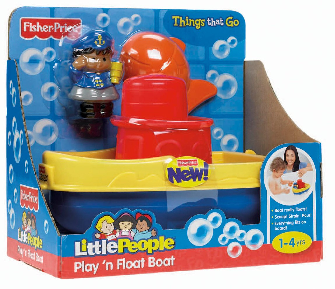 Amazon.com: Fisher-Price Little People Play \'n Float Bath Boat ...
