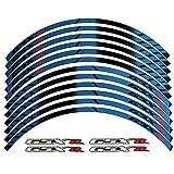 Blue 10 X CUSTOM RIM DECALS WHEEL Reflective