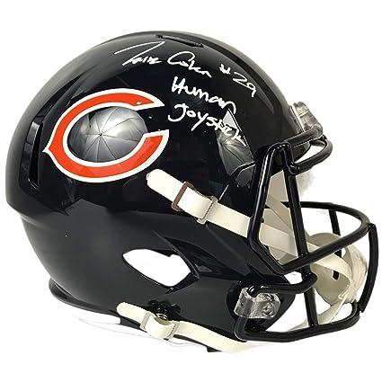 Image Unavailable. Image not available for. Color  Tarik Cohen Autographed  Chicago Bears Blue Full Size Helmet w Inscription JSA COA 8e0973468