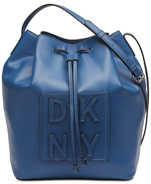 (ダナキャラン ニューヨーク) DKNY スタックドローストリングバケット Women`s Bag(並行輸入品) B07PS64PLF Azure/Silver One Size