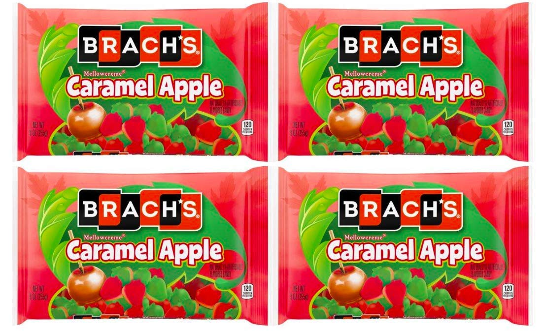 Brach's Mellowcreme Caramel Apple Candy, 9oz (Pack of 4) 36 Total ounces