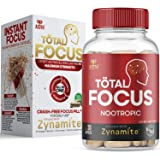 AZOTH Total Focus Supplement - Instant Focus, Energy, Attention & Concentration - with Zynamite, Rhodiola, PurCaf Organic Caf