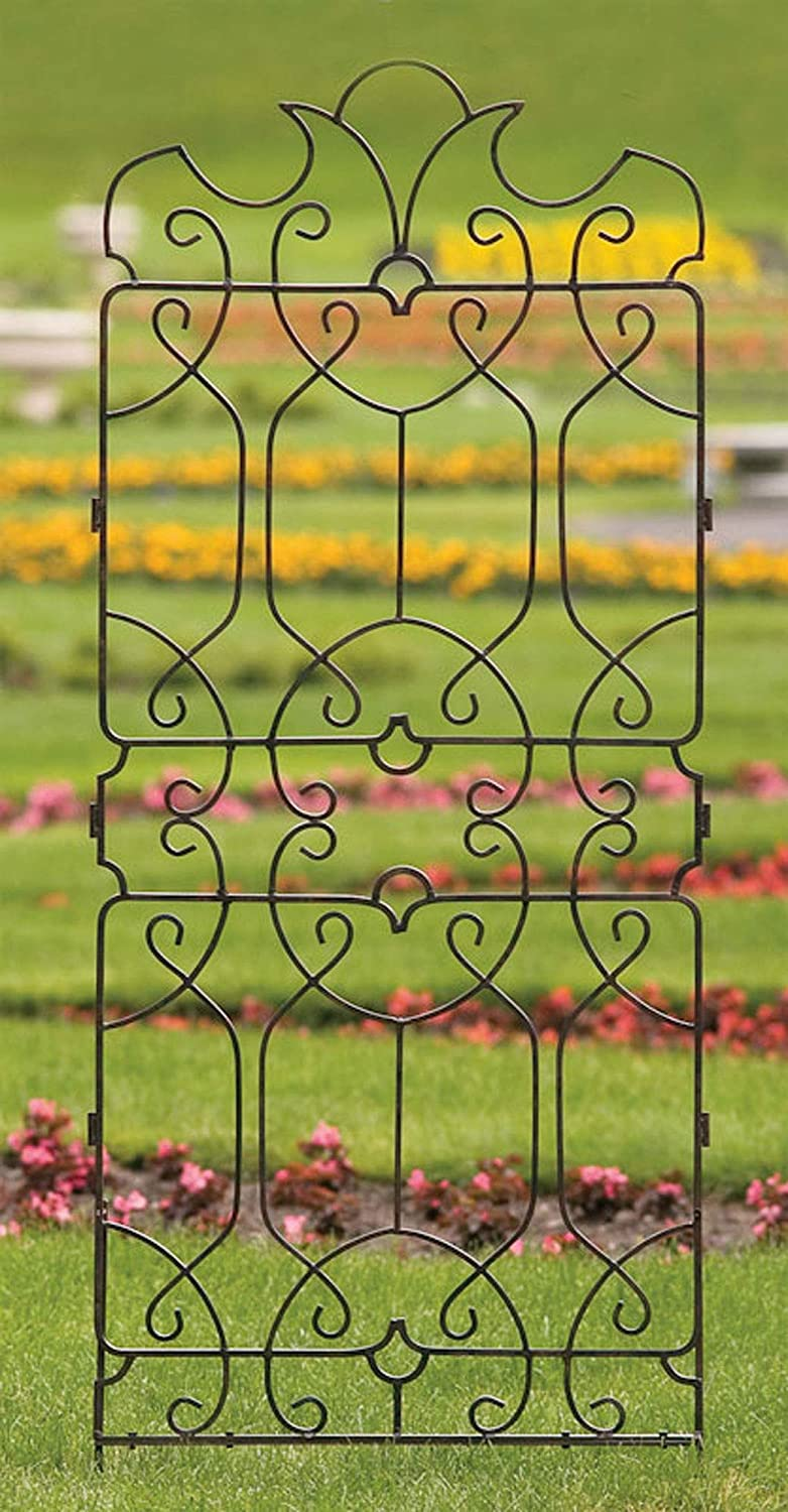 Amazon.com : H Potter Wrought Iron Large Metal Ornamental Trellis ...