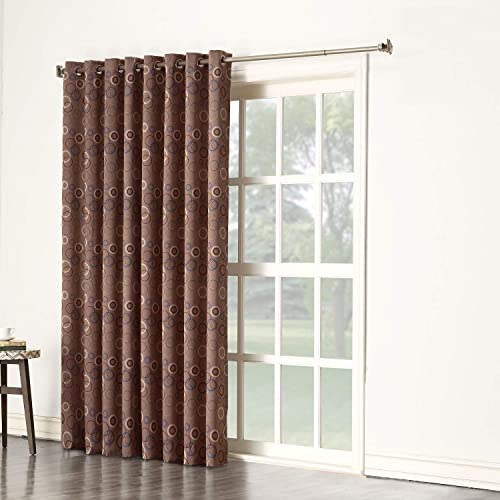 Rooney Extra-Wide Thermal Insulated Blackout for Patio Door Curtains Noise Reducing Curtain Drapes for Bedroom, Brown, 100 X 84