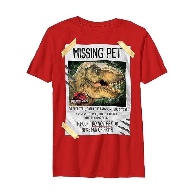 0d5403ec3 Amazon.com: Jurassic Park Boys' T. Rex Missing Pet T-Shirt: Clothing