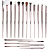 BESSTOPE Eye Makeup Brushes Set, 18 Pieces Professional Cosmetic Brushes Includes Eye Shadow Eyebrow Eyelash Eye Liners Fan Brushes, with Champagne Gold Tapered Handles for Women Girls