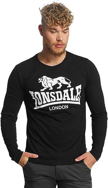 Lonsdale London Homme Hauts T Shirt manches longues Blaich