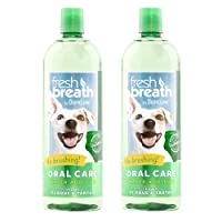 TropiClean Fresh Breath Plaque Remover Pet Water Additive 33.8oz (Pack of 2) - Packaging May Vary