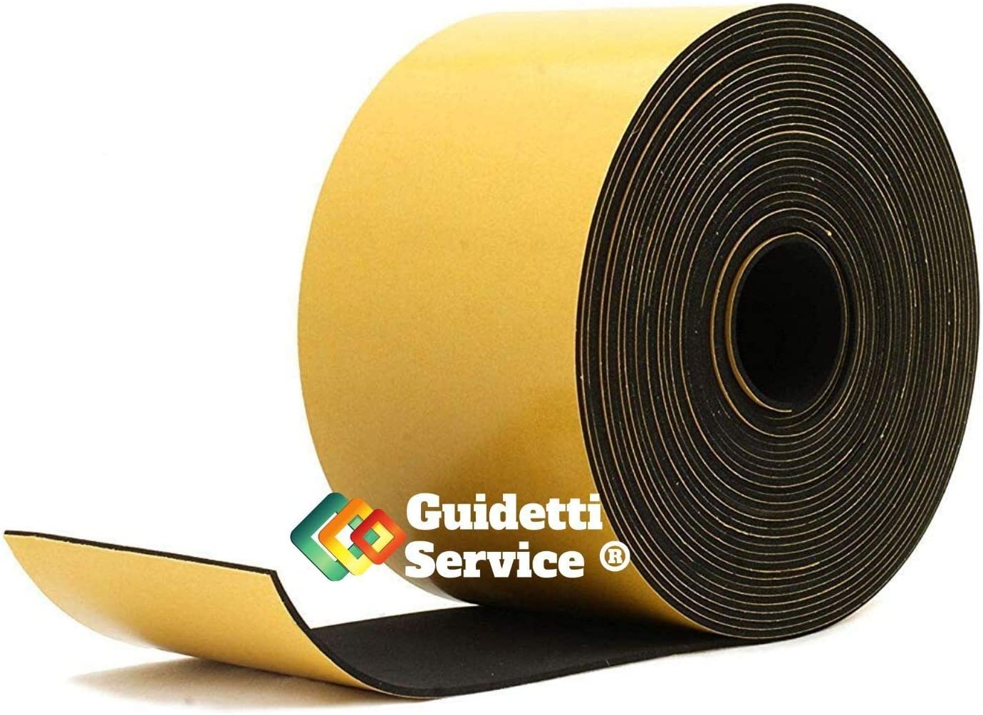 rouleau de 10/m Noir Guidetti Service/® en n/éopr/ène 3/mm Joint adh/ésif