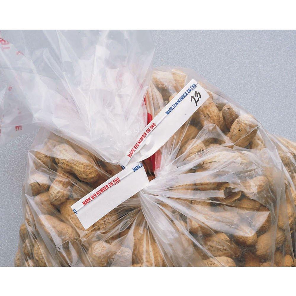 Twist Ties White Paper Bulk Food Twist Ties - 6'' L x 5/8 W 1000 Per Box by Hubert
